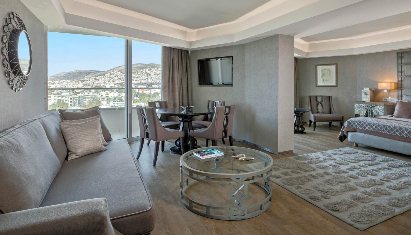 Divani Apollon Palace & Thalasso - All Sea View Suite - Living Room